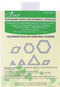 Clover Patchwork Templates - Triangle & Hexagon